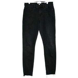 Frame Womens Le Skinny Le Jeanne Black Jeans 30